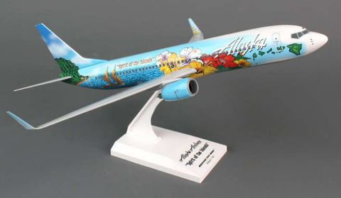 "Skymarks Alaska Airlines ""Spirit of Islands"" Boeing 737-800w 1/130 Plastic Model - RW Hobbies"