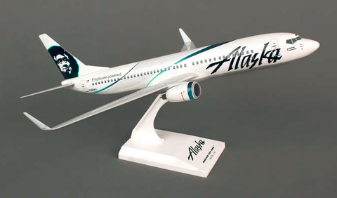"Skymarks Alaska Airlines ""Employee Powered"" Boeing 737-800w 1/130 Plastic Model - RW Hobbies"