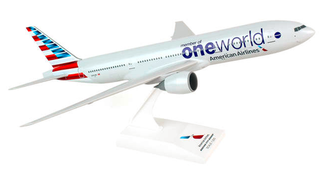"Skymarks American Airlines ""One World"" Boeing 777-200ER 1/200 Plastic Model - RW Hobbies"