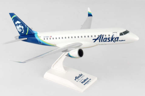 Skymarks Alaska Airlines Embraer ERJ-175 1/100 Plastic Model - RW Hobbies