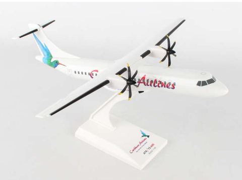 Skymarks Caribbean Airlines ATR-72 1/100 Plastic Model - RW Hobbies