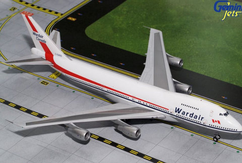 1/200 GeminiJets Wardair Boeing 747-200 Diecast Model