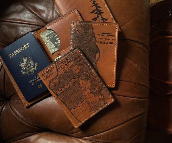 Cleveland Map Passport Wallet