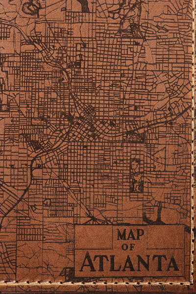 Atlanta Map Passport Wallet