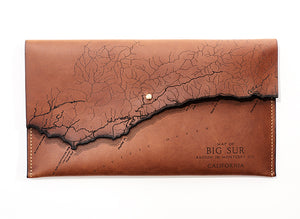 Big Sur Map Clutch