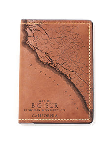 Big Sur Map Passport Wallet