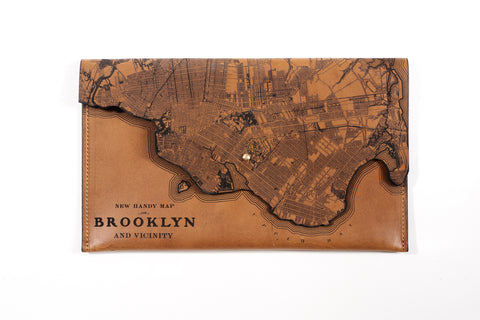 Brooklyn Map Clutch