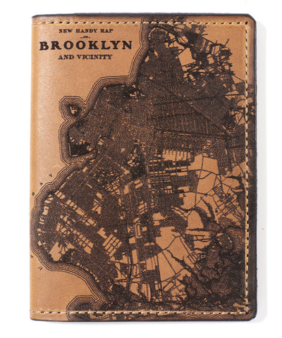 Brooklyn Map Passport Wallet