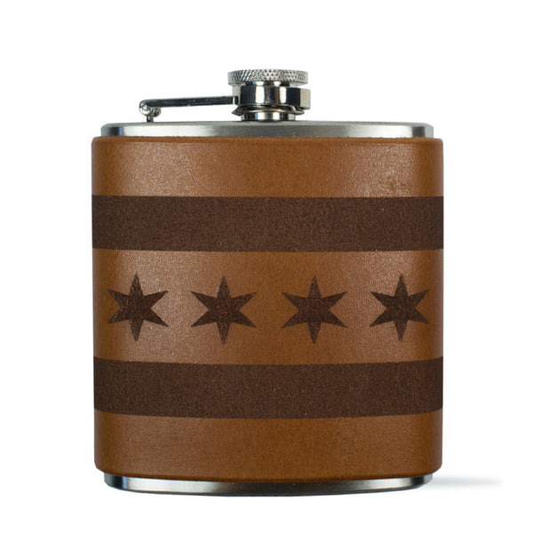 Chicago Flag Flask
