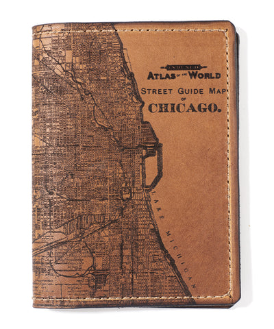 Chicago Map Passport Wallet