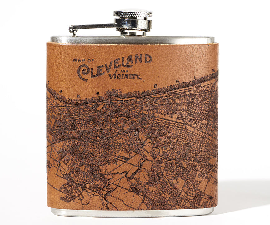 Cleveland Map Flask