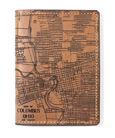 Columbus Map Passport Wallet
