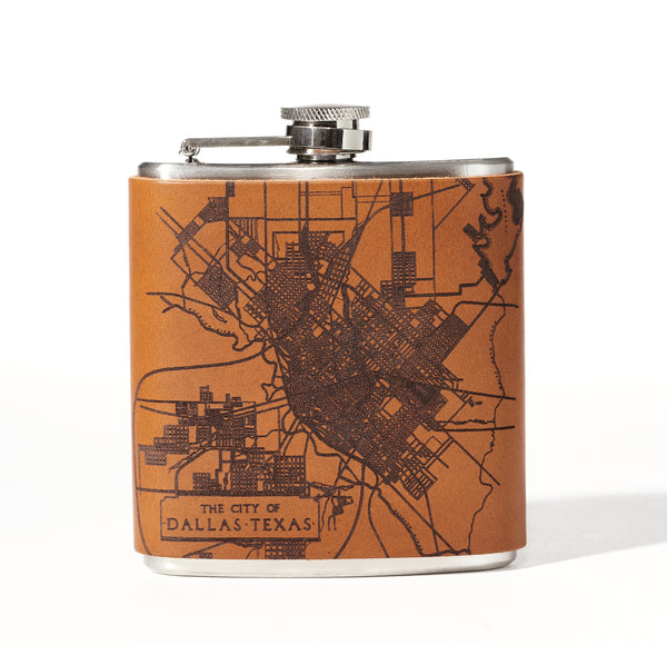 Dallas Map Flask