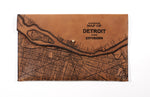 Load image into Gallery viewer, Detroit Map Clutch