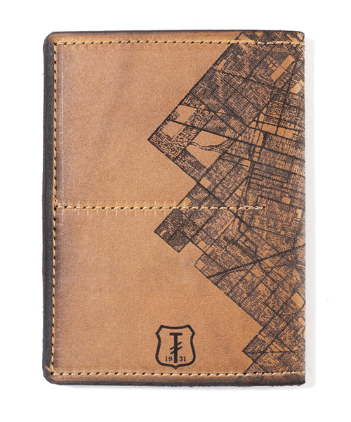 Detroit Map Passport Wallet