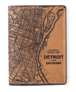 Load image into Gallery viewer, Detroit Map Passport Wallet