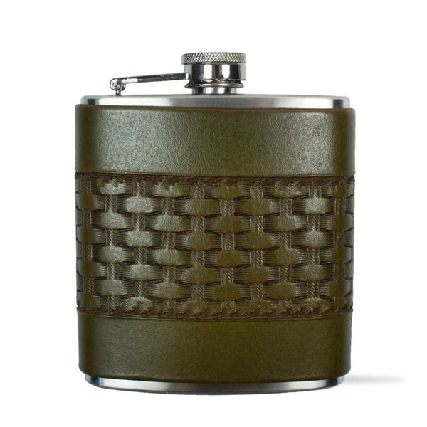 Basketweave Flask
