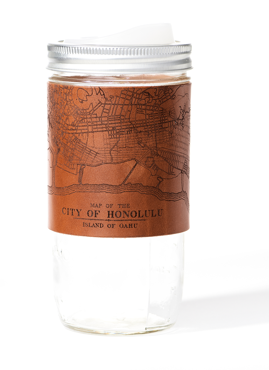 Honolulu Map Travel Mug