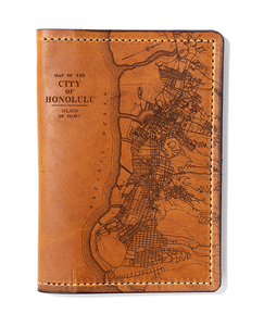Honolulu Map Passport Wallet