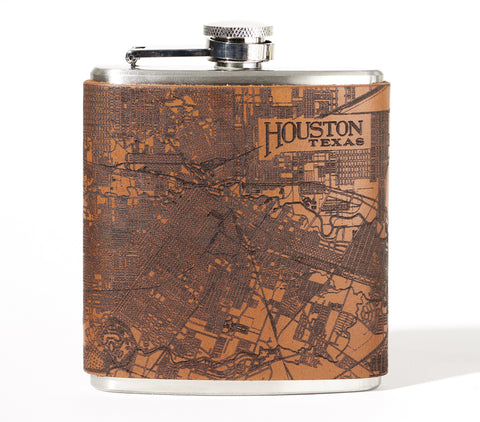 Houston Map Flask