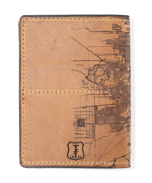 Houston Map Passport Wallet