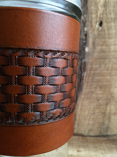 Basketweave Travel Mug