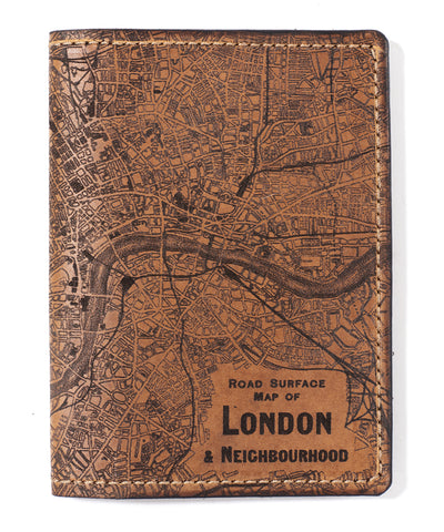 London Map Passport Wallet