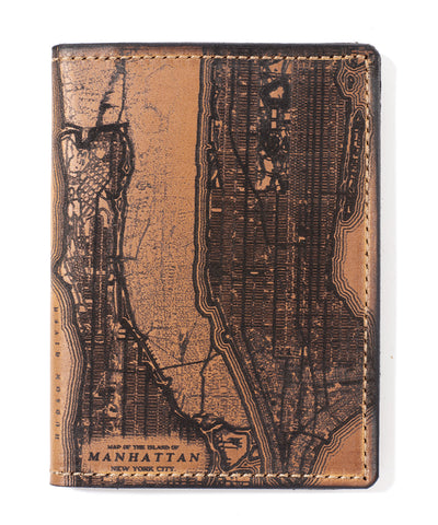 Manhattan Map Passport Wallet