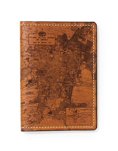Mexico City Map Passport Wallet