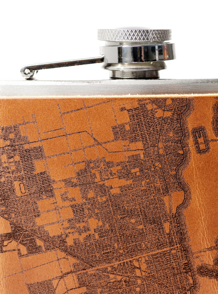Miami Map Flask