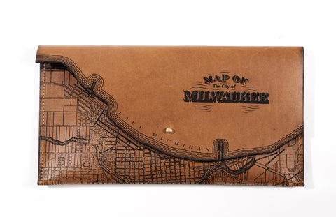 Milwaukee Map Clutch
