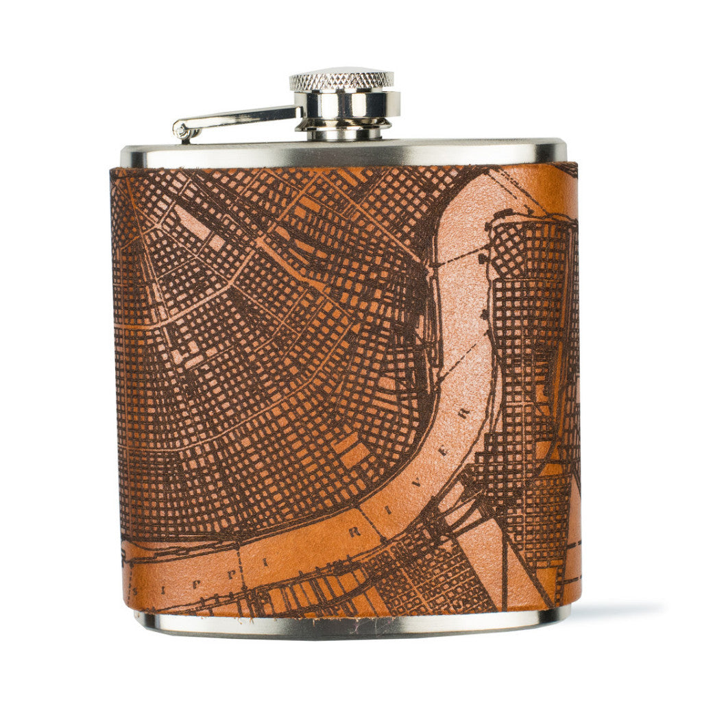 New Orleans Map Flask