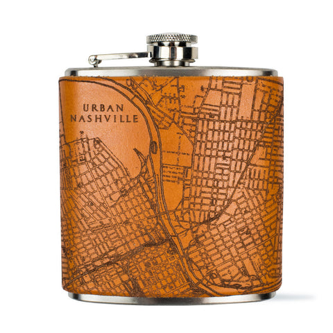 Nashville Map Flask