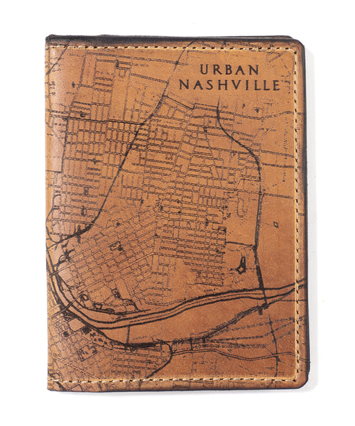 Nashville Map Passport Wallet