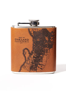 Oakland Map Flask
