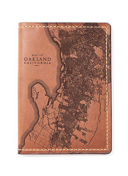 Oakland Map Passport Wallet