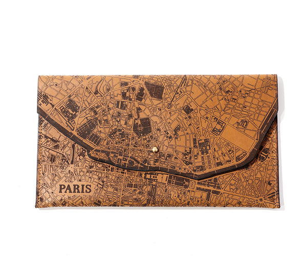 Paris Map Clutch