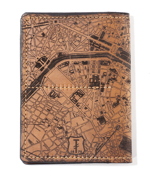 Paris Map Passport Wallet