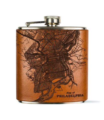 Philadelphia Map Flask