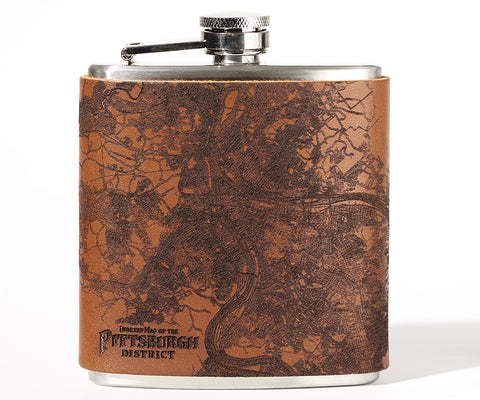 Pittsburgh Map Flask