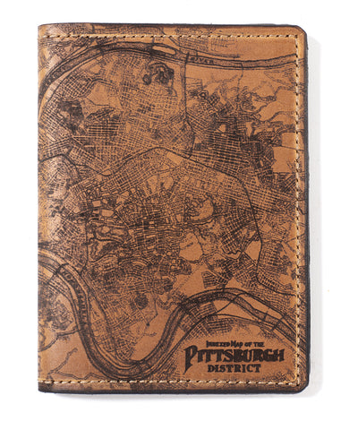 Pittsburgh Map Passport Wallet
