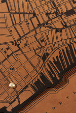 Load image into Gallery viewer, Portland, Maine Map Clutch