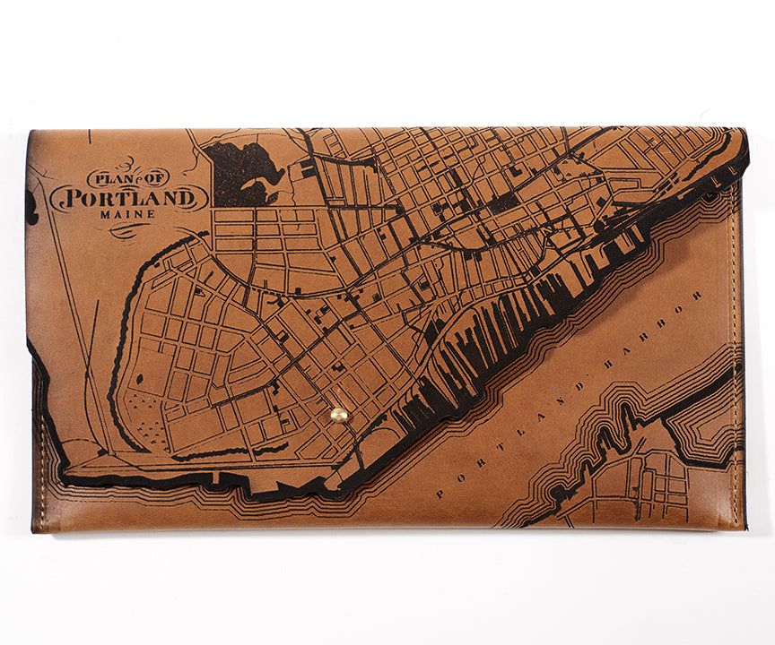 Portland, Maine Map Clutch