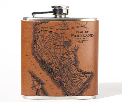 Portland, Maine Map Flask