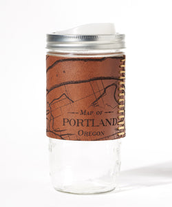 Portland, Oregon Map Travel Mug - Columbia River Gorge