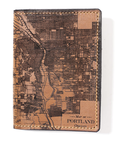 Portland, Oregon Map Passport Wallet