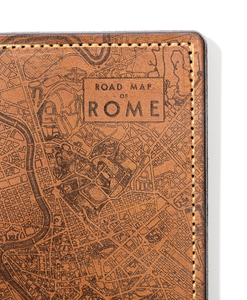 Rome Map Passport Wallet