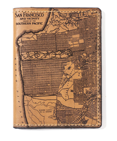 San Francisco Map Passport Wallet