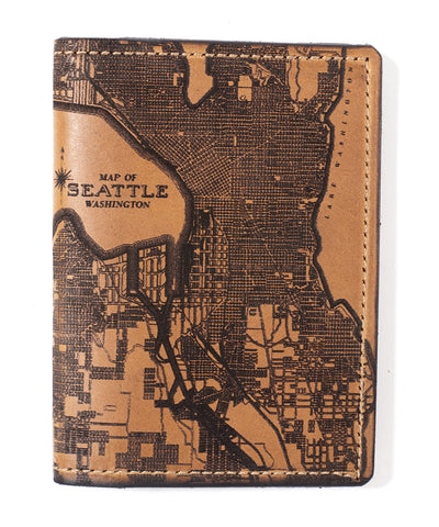 Seattle Map Passport Wallet
