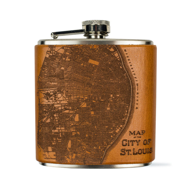 St. Louis Map Flask